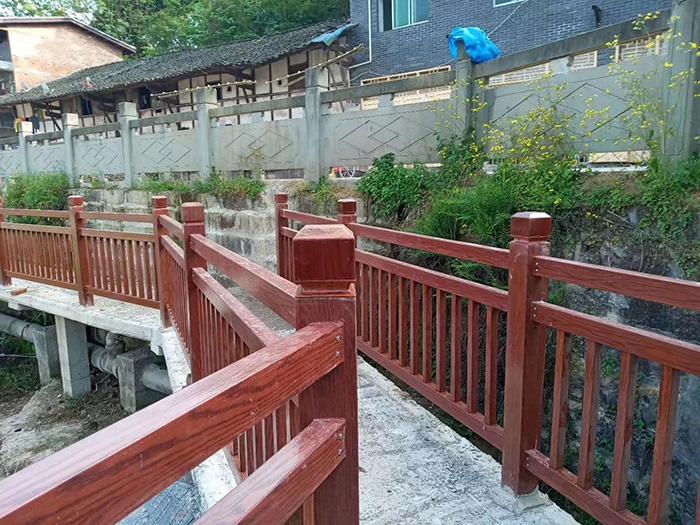 米乐m6电竞竞猜木纹护栏